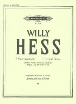 7 Vortragsstücke - Bd. 2 - Fagott Klavier Willy Hess laflutedepan