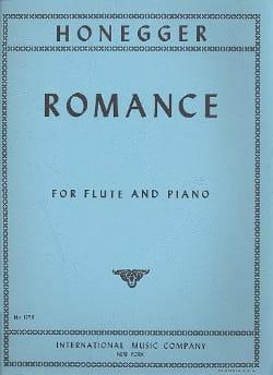 Romance - Flûte et piano HONEGGER Partition laflutedepan