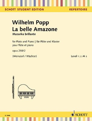 La Belle Amazone Wilhelm Popp Partition laflutedepan