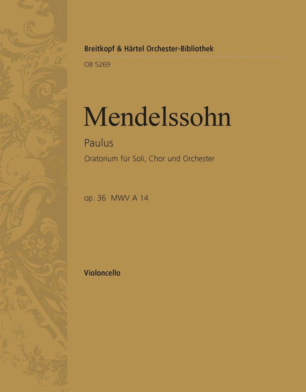 Paulus op. 36 - MENDELSSOHN - Partition - laflutedepan.com