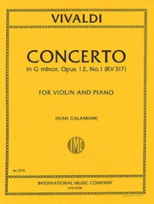 Concerto sol mineur op. 12 n° 1 RV 317 - VIVALDI - laflutedepan.com