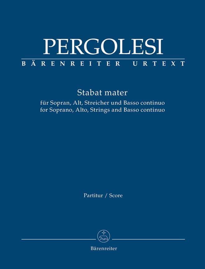 Stabat Mater - Conducteur - PERGOLESE - Partition - laflutedepan.com