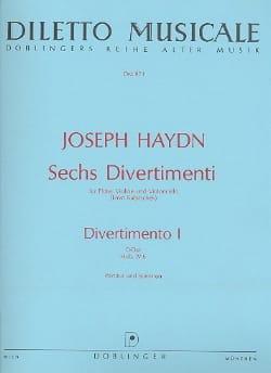6 Divertimenti, Divertimento Nr. 1 D-Dur -partitur + Stimmen laflutedepan