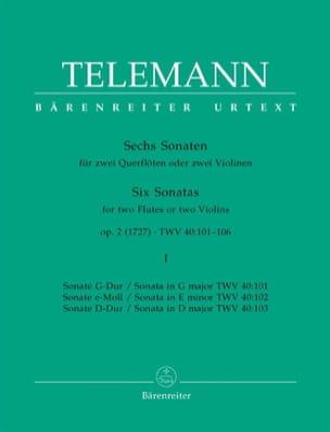 6 Sonates op. 2 Volume 1 pour 2 Flutes ou 2 violons laflutedepan