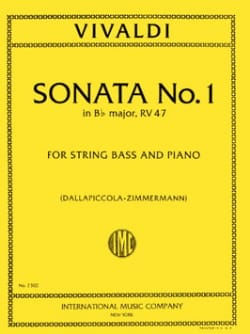 Sonate n° 1 in B flat maj. RV 47 - String bass VIVALDI laflutedepan