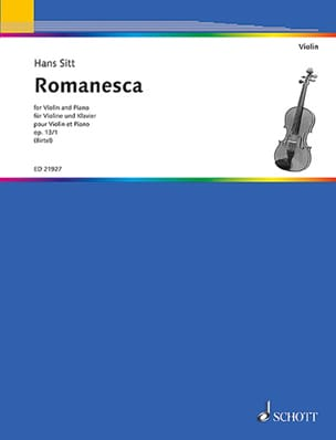Romanesca, op. 13 n° 1 - Violon et piano - laflutedepan.com