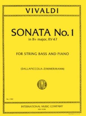 Sonate n° 1 in B flat maj. RV 47 - String bass - laflutedepan.com