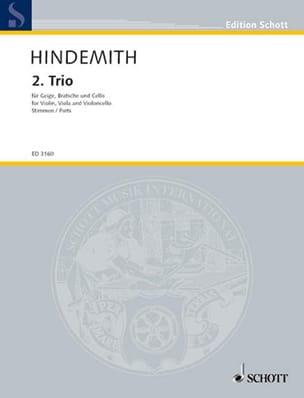 Streichtrio Nr. 2 -Stimmen HINDEMITH Partition Trios - laflutedepan
