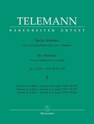6 Sonates op. 2 Volume 2 pour 2 Flutes ou 2 violons laflutedepan