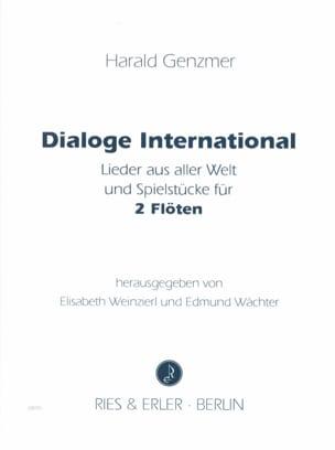 Dialoge International - 2 Flöten Harald Genzmer Partition laflutedepan