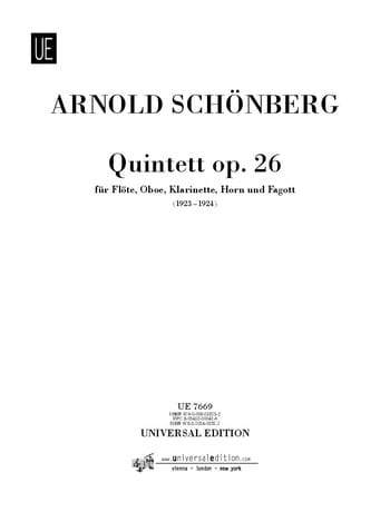 Bläserquintet op. 26 -Stimmen - SCHOENBERG - laflutedepan.com