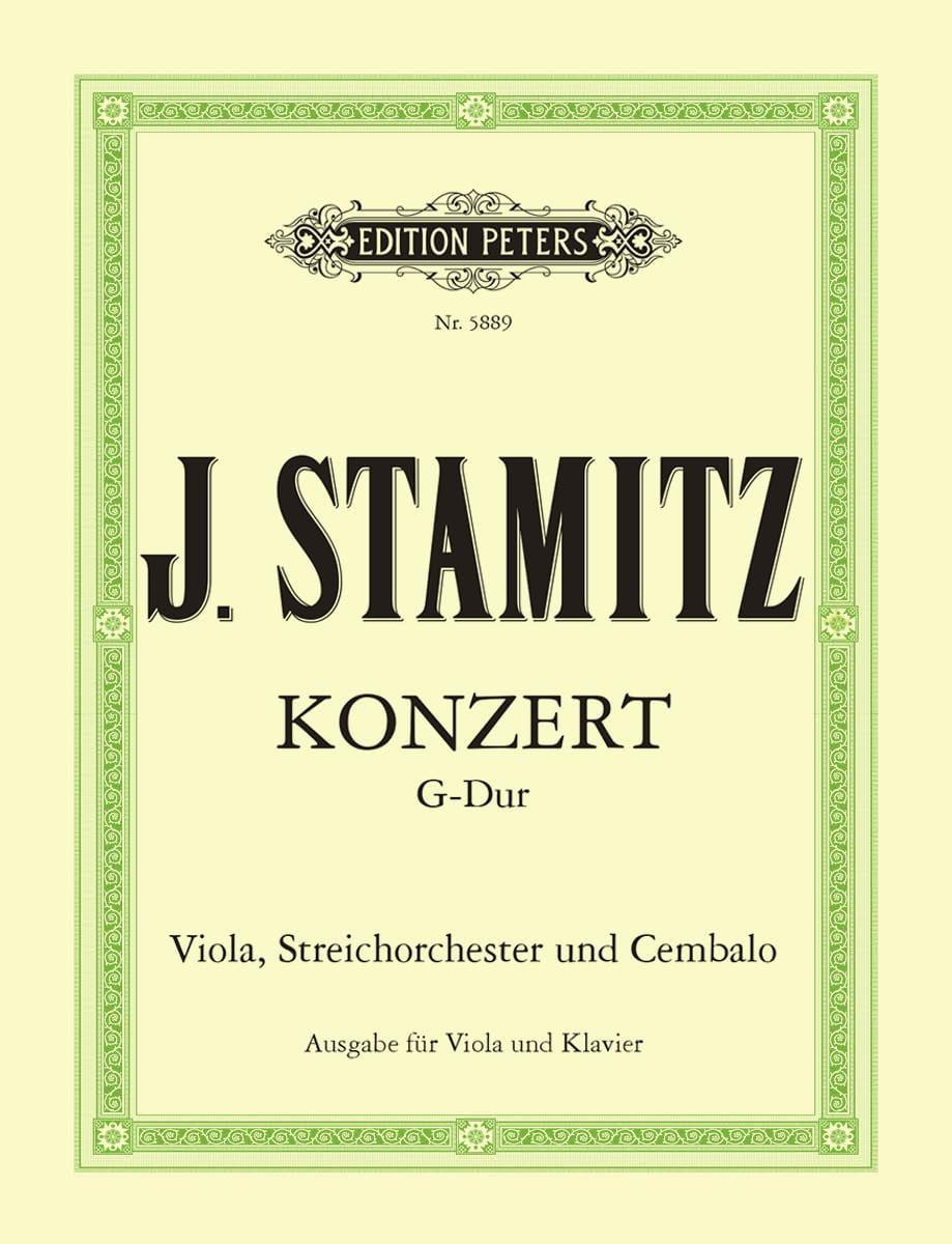 Concerto G-dur - Viola Klavier - STAMITZ - laflutedepan.com
