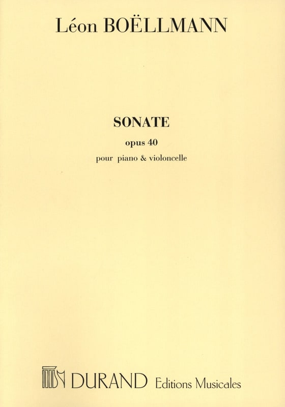 Sonate op. 40 - Léon Boëllmann - Partition - laflutedepan.com