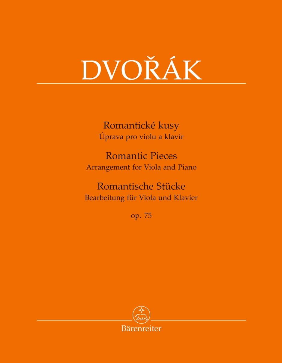 Pièces Romantiques, op. 75 - DVORAK - Partition - laflutedepan.com
