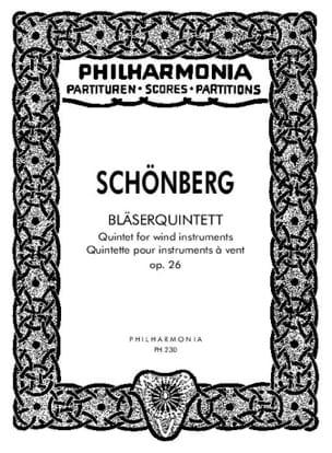 Bläserquintett op. 26 - Partitur SCHOENBERG Partition laflutedepan