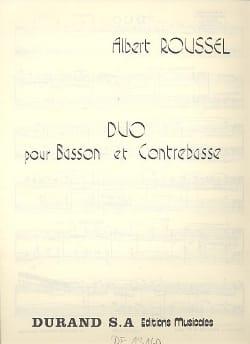 Duo pour basson et contrebasse ROUSSEL Partition Duos - laflutedepan