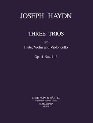 3 Trios op. 11 n° 4-6 -Flöte Violine Violonc. - Stimmen laflutedepan