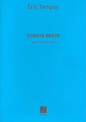 Sonata Breve Eric Tanguy Partition Violon - laflutedepan