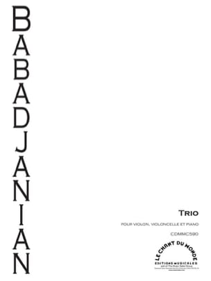 Trio pour piano, violon et violoncelle Arno Babadjanian laflutedepan