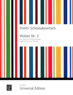 Valse n° 2 - 2 Violons Dmitri Chostakovitch Partition laflutedepan