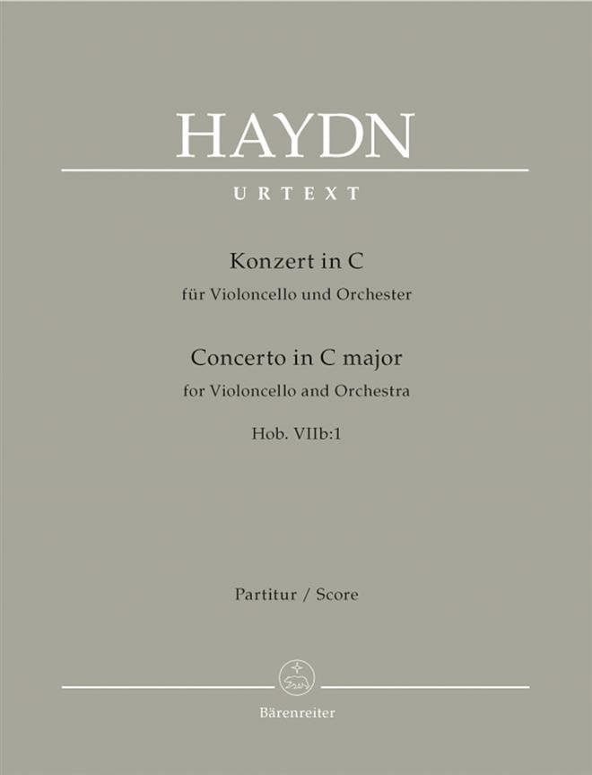 Violoncello-Konzert C-Dur Hob 7b:1 - Partitur - laflutedepan.com