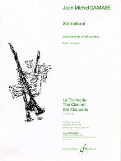 Solmidomi Jean-Michel Damase Partition Clarinette - laflutedepan