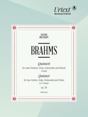 Klavierquintett in f-moll op. 34 -Stimmen BRAHMS laflutedepan