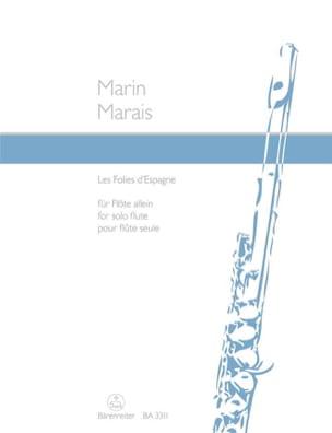 Les Folies d' Espagne - Flûte solo Marin Marais Partition laflutedepan
