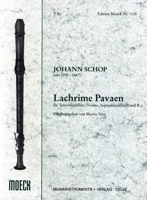 Lachrime Pavaen Johann Schop Partition Flûte à bec - laflutedepan