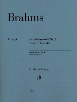 Sextuor à Cordes, op. 36 BRAHMS Partition Sextuors - laflutedepan