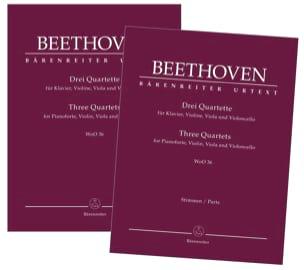 3 Quatuors, WoO 36 BEETHOVEN Partition Quatuors - laflutedepan