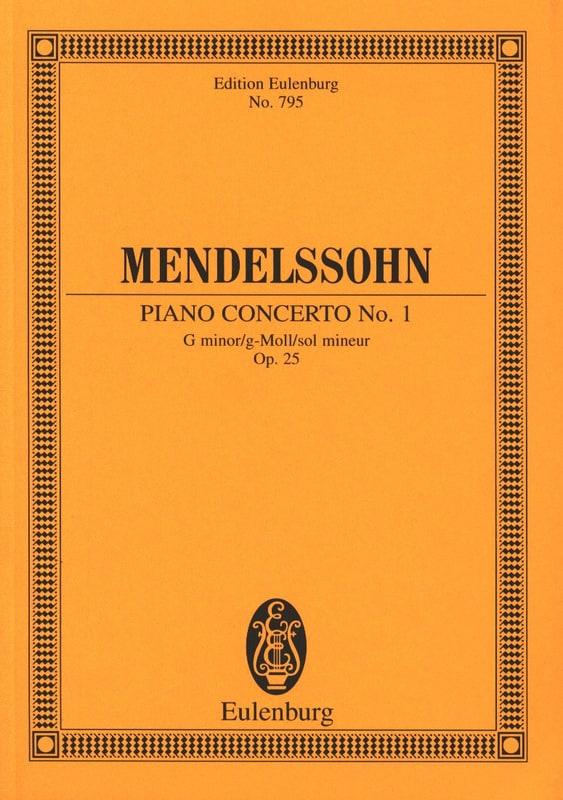 Klavier-Konzert Nr. 1 g-moll - MENDELSSOHN - laflutedepan.com