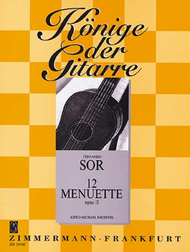 12 Menuette op. 11 - SOR - Partition - Guitare - laflutedepan.com