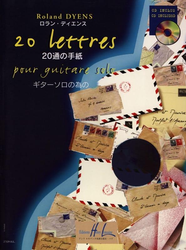 20 Lettres - Roland Dyens - Partition - Guitare - laflutedepan.com
