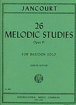 26 Melodic studies op. 15 Eugène Jancourt Partition laflutedepan