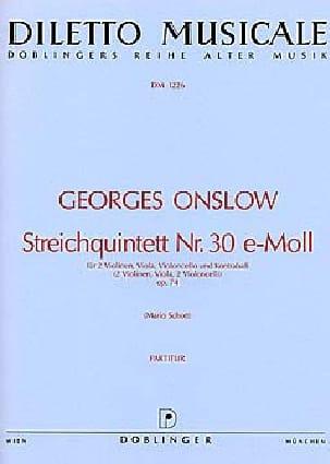Streichquintett Nr. 30 e-Moll op. 74 Georges Onslow laflutedepan