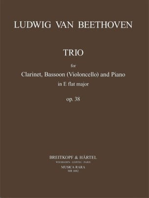 Trio E flat major op. 38 - Clarinet, Bassoon Violoncello piano laflutedepan