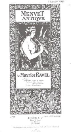 Maurice Ravel - Menuet antique - Violin or flute and piano - Partition - di-arezzo.co.uk