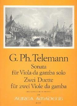 Sonate et 2 Duos TELEMANN Partition Viole de gambe - laflutedepan