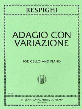 Ottorino Respighi - Adagio con Variazioni - Partition - di-arezzo.fr