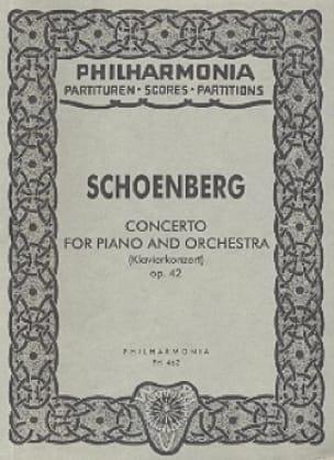 Klavierkonzert op. 42 - Partitur - SCHOENBERG - laflutedepan.com