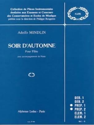Soir d'automne - Adolfo Mindlin - Partition - laflutedepan.com