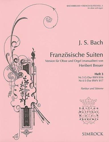 Französische Suiten Volume 3 - BACH - Partition - laflutedepan.com