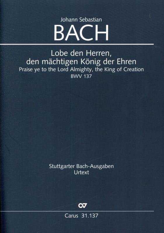 Cantate BWV 137 - Conducteur - BACH - Partition - laflutedepan.com