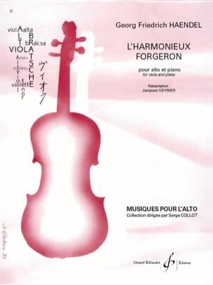 L'harmonieux forgeron - Alto et piano HAENDEL Partition laflutedepan