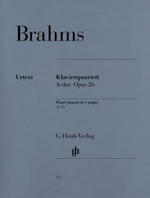 Quatuor avec piano en La majeur op. 26 BRAHMS Partition laflutedepan