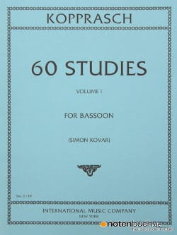 60 Studies - volume 1 C. Kopprasch Partition Basson - laflutedepan