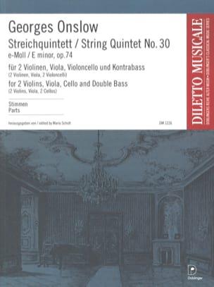 Streichquintett Nr. 30 e-moll op. 74 -Stimmen laflutedepan