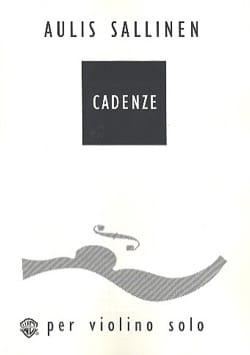 Cadenze Aulis Sallinen Partition Violon - laflutedepan