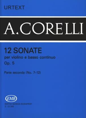 12 Sonates Op. 5 Volume 2 7 A 12 CORELLI Partition laflutedepan